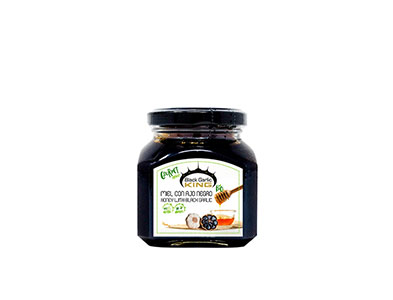 ORGANIC HONEY WITH BLACK GARLIC 230gr